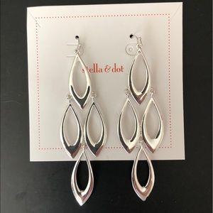 Stella & Dot Silver Chandelier Earrings